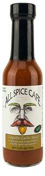 All Spice Café Chipotle Garlic Sauce, 5.2 oz (12 Pack)